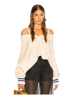 MAISON MARGIELA Cold Shoulder Sweater