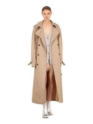 MAISON MARGIELA Cotton blend gabardine trench coat