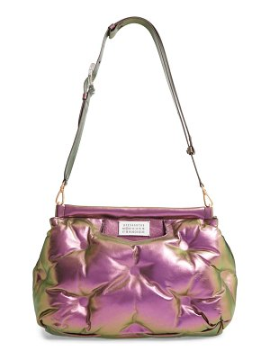 MAISON MARGIELA medium glam slam metallic leather convertible shoulder bag