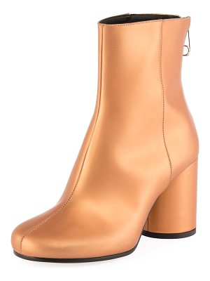 MAISON MARGIELA Metallic Leather Cylinder-Heel Bootie