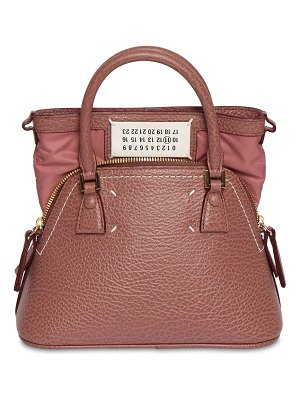 MAISON MARGIELA Micro 5ac leather top handle bag