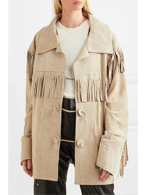 MAISON MARGIELA oversized fringed suede jacket