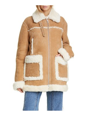 MAISON MARGIELA oversized genuine shearling jacket