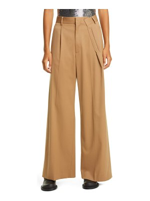 MM6 MAISON MARGIELA pleat high waist pants