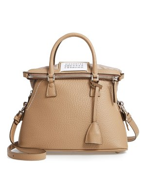 MAISON MARGIELA small 5ac calfskin leather handbag