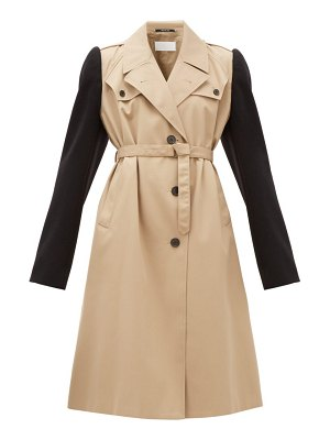MAISON MARGIELA wool-sleeve twill trench coat