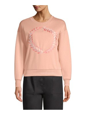 Maje laurel embroidery sweatshirt