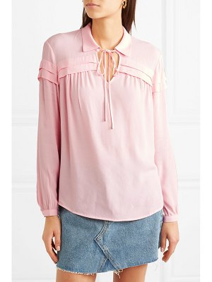 Maje pleated crepe blouse