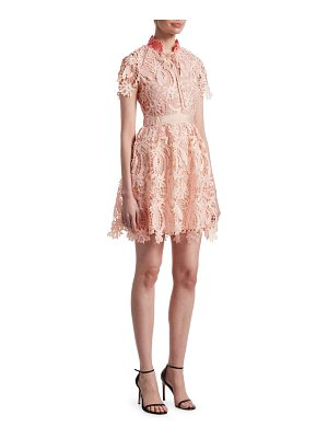 Maje regina lace fit-&-flare dress