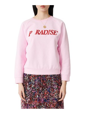 Maje talina embroidered cotton sweatshirt