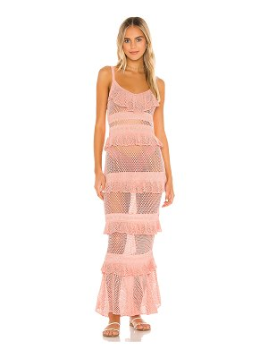 MAJORELLE aurelia crochet dress
