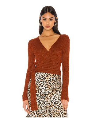 MAJORELLE lyla wrap sweater