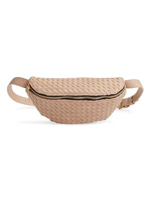 Mali + Lili beta woven vegan leather belt bag