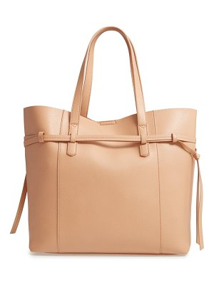 MALIBU SKYE faux leather carryall tote