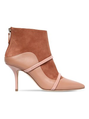 MALONE SOULIERS 70mm madison suede & leather ankle boots