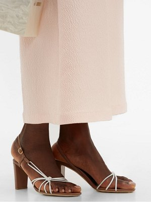 MALONE SOULIERS binette knotted leather slingback sandals