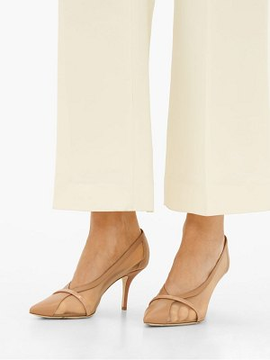 MALONE SOULIERS brook mesh and leather pumps