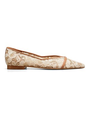 MALONE SOULIERS Colette Lace Napa Point-Toe Ballerina Flats