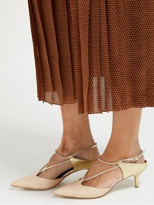 MALONE SOULIERS daria elaphe and leather slingback pumps