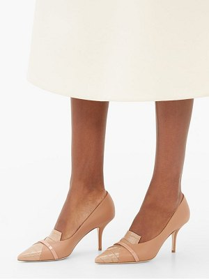 MALONE SOULIERS dina panelled leather pumps