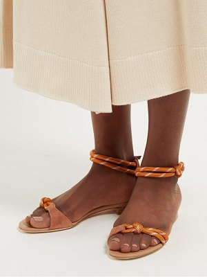 MALONE SOULIERS fenn rope strap suede sandals