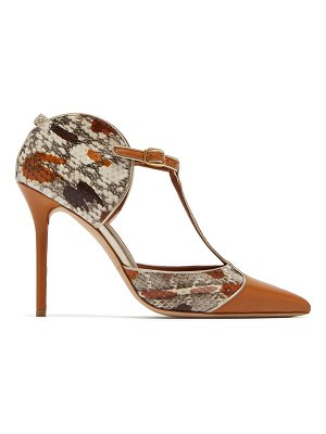 MALONE SOULIERS BY ROY LUWOLT Malone Souliers By Roy Luwolt - Imogen T Bar Snakeskin And Leather Pumps