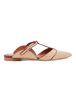 MALONE SOULIERS imogen t-bar strap point-toe leather mules