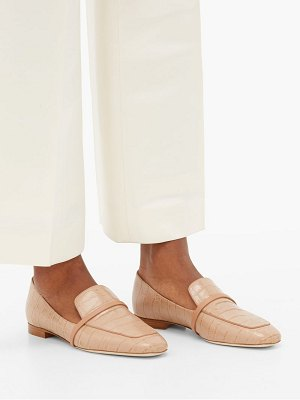 MALONE SOULIERS jane crocodile-effect leather loafers