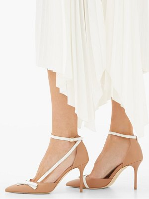 MALONE SOULIERS josie bow-embellished leather pumps