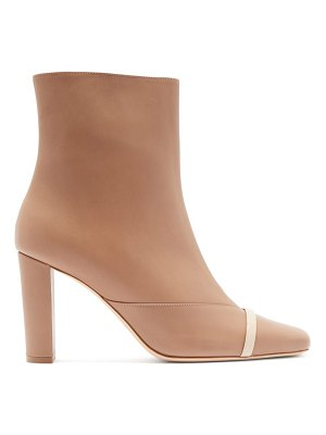 MALONE SOULIERS lori square-toe leather ankle boots