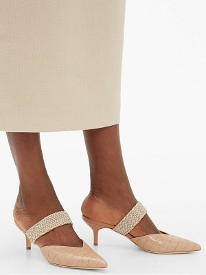 MALONE SOULIERS maisie kitten-heel leather mules