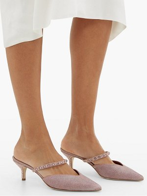 MALONE SOULIERS marla crystal-embellished lurex mules