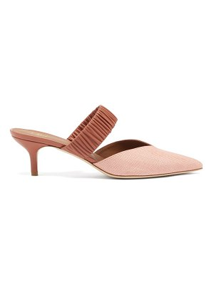 MALONE SOULIERS matilda raffia and leather mules