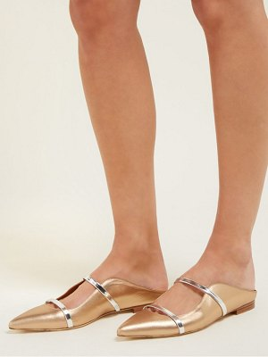 MALONE SOULIERS maureen backless leather flats