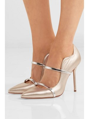 MALONE SOULIERS maureen 100 metallic leather pumps