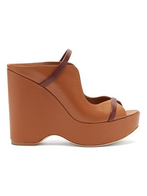 MALONE SOULIERS norah leather platform wedge sandals
