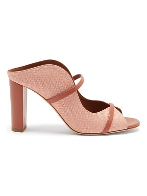 MALONE SOULIERS norah raffia and leather mules