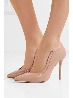 MALONE SOULIERS penelope 100 patent-trimmed leather pumps