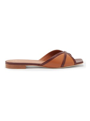 MALONE SOULIERS perla contrast-strap leather slides