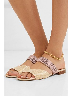 MALONE SOULIERS rodena cord-trimmed woven raffia sandals