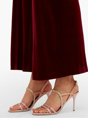 MALONE SOULIERS sage satin stiletto sandals