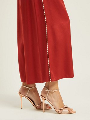 MALONE SOULIERS terry metallic and mirrored leather sandals