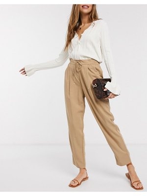 MANGO drawstring pants in camel-brown