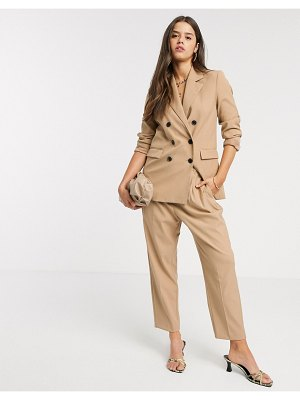 MANGO elasticated tailored pants two-piece in camel-brown