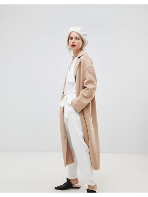 MANGO Open Lapel Over Coat