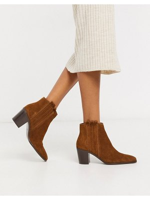 MANGO suede ankle boots in tan-brown