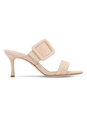 Manolo Blahnik 70mm gable suede sandals