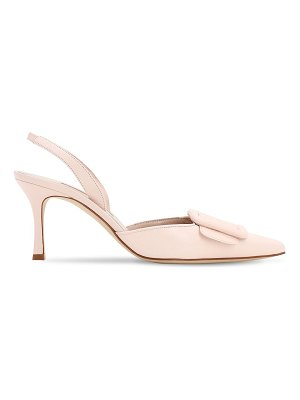 Manolo Blahnik 70mm maysli nappa sling back pumps