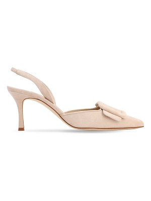 Manolo Blahnik 70mm maysli suede pumps