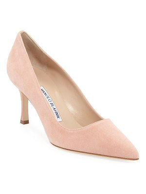 Manolo Blahnik BB Suede 70mm Pumps